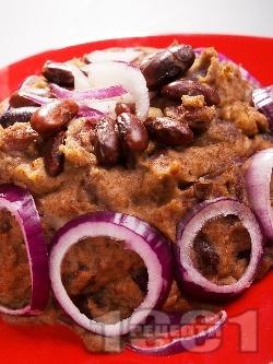 Маслен боб с лук - снимка на рецептата